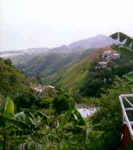 Mountain views in Rincon, Puerto Rico